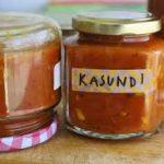kasundi packed in glass jars