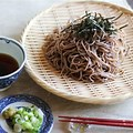 cold buckwheat noodles with garnish