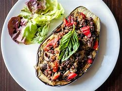 eggplant with peppers