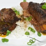 shortribs on bed of rice